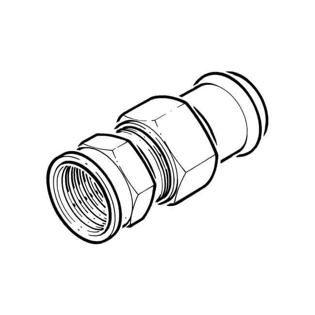 B Press Fit Union Connector 54 Mm X 2 Bsp Female 15343