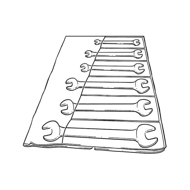 King Dick BA Spanner Set - 6 Pieces