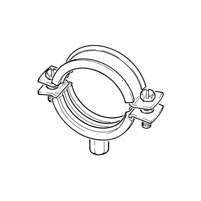 Rubber Lined Mild Steel Zinc Plated Clip - 60 to 64mm