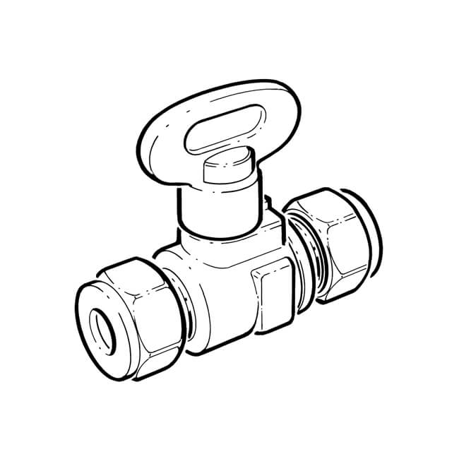 Isogas Gas Isolating Ball Valve - Compression 8mm