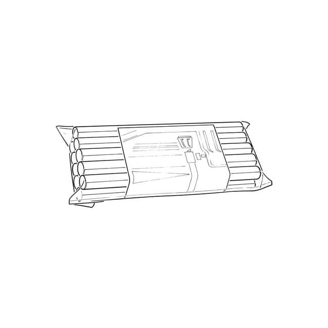 "Radsnaps Radiator Pipe Cover - 8"", 10 Pack, White"