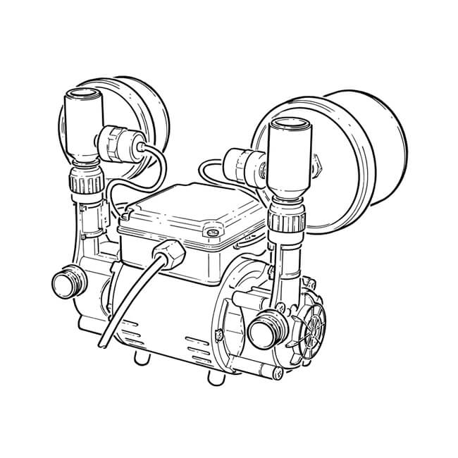 Grundfos Str2 1 5 Cn Twin Regenerative Shower Pump 1 5 Bar