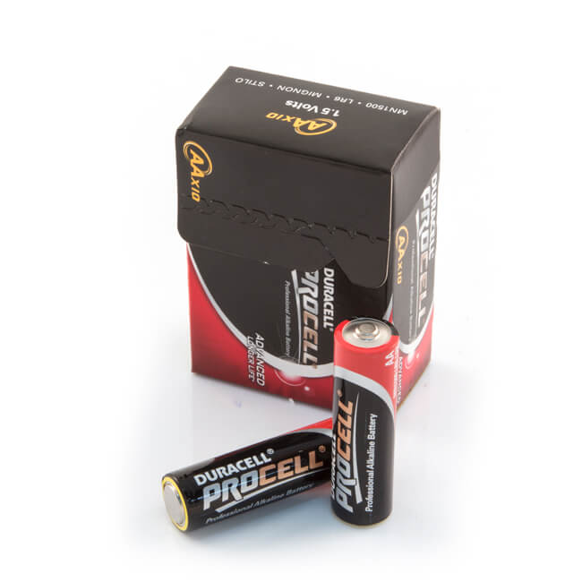 Duracell AA Alkaline Batteries - Pack of 10