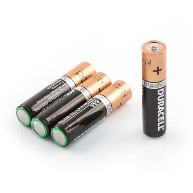 Duracell AAA Alkaline Batteries - Pack of 4 - 7595 | BES.co.uk