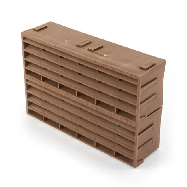 """AIR 9202 - 9"""" x 6"""" - Brown - Air Brick"""
