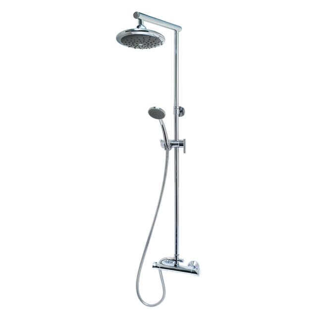 MX Atmos Azure Thermostatic Bar Shower with Overhead