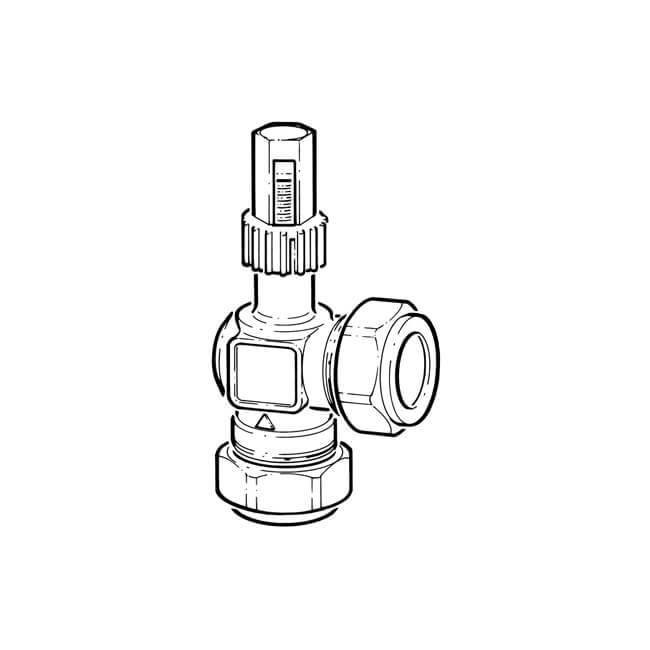 Automatic By-Pass Differential Valve - 22mm Angled
