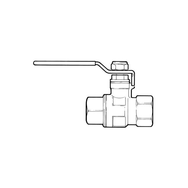 "Ball Valve - 3/4"" BSP PF Red Lever Handle"