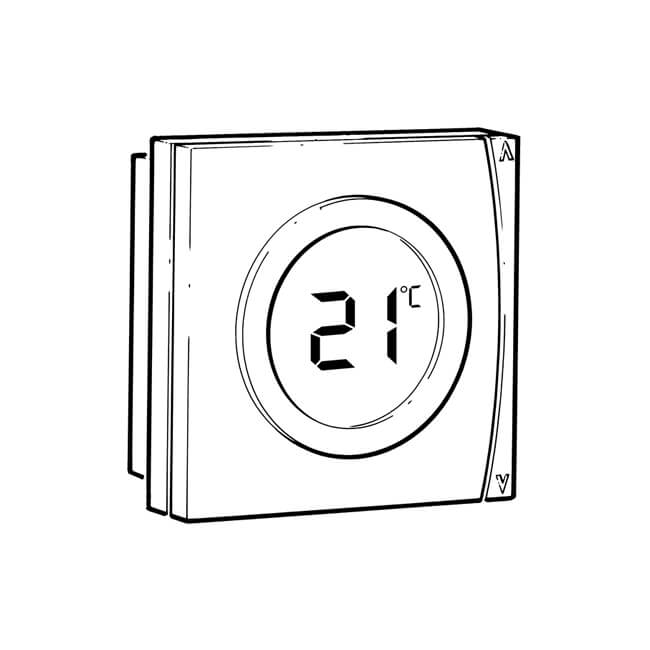 danfoss basic plus u00b2 wt-p room thermostat