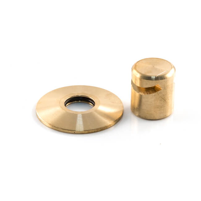 Solder Ring Blow Off Cap with Collar - 15mm