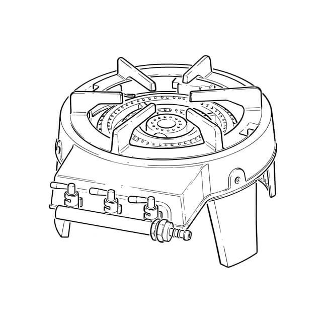 Boiling Ring, Single Pot Triple Burner - Cast Iron