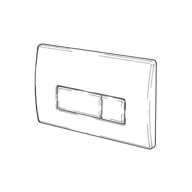 flush plate chrome for pneumatic flush valve caspia 20014