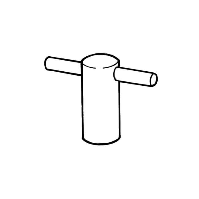 Conventional Brass Radiator Key