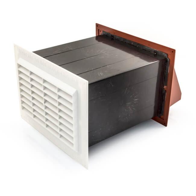 "Cotel96 Ventilator - 9"" x 6"", Terracotta/White"