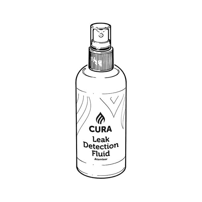 Cura Gas Leak Detection Fluid - Atomiser 250ml