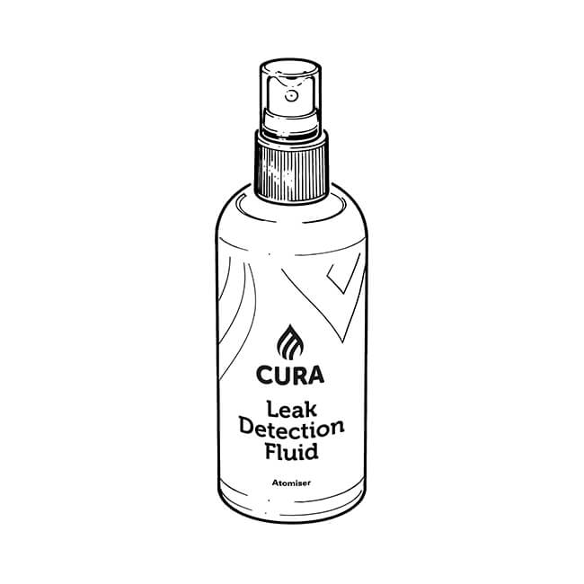 Cura Gas Leak Detection Fluid Atomiser - 500ml