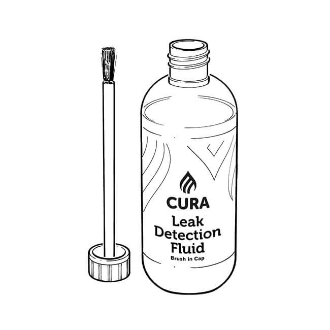 Cura Gas Leak Detection Fluid Brush - 250ml