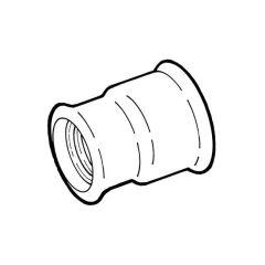"Reducing Concentric Socket - 1.1/2"" x 1"" Black"