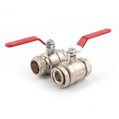 Lever Handle Ball Pump Valve - 1.1/2 x 35mm Pair