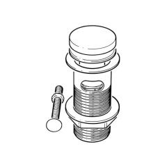 Easy-Seal Sprung Waste Chrome Slotted Brass 1.1/4""