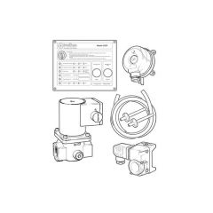 Intelligas EGIP Kit with Gas Valve - 1.1/4""