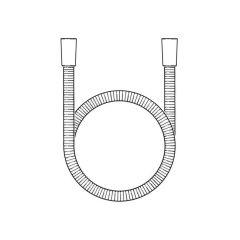 Shower Hose S/Steel - Cone x Cone, 1.25m x 7mm Bore