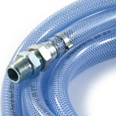 "Reinforced Clear Flexible Hose 6m x 1/2"" Union BSP TM"