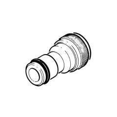 "Garden Hose Tap Connector - 1/2"" Brass"