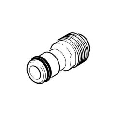 """1/2"""" Brass Hose Accessory Connector"""