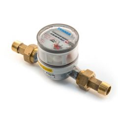 "Single Jet Hot Water Meter - 1/2"""