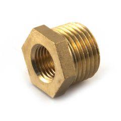"""Brass Threaded Hexagon Bush 1/2"""" BSP TM x 1/4"""" BSP PF"""