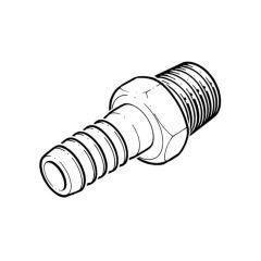 "Brass Threaded Hose Tail Adaptor - 1/2"" BSP PM x 13mm"