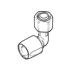 "Hep2O® Bent Tap Connector - 1/2"" x 15mm White"