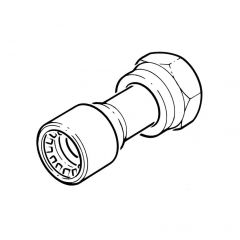 "Conex Push-fit Straight Tap Connector 1/2"" BSP x 15mm"