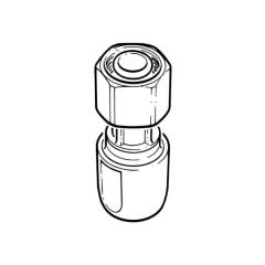 """Hep2O® Straight Tap Connector - 1/2"""" x 15mm White"""
