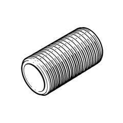 "Brass Threaded Running Nipple - 1/2"" x 4"" BSP P"