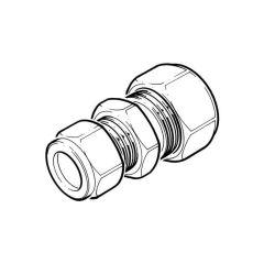 """Lead line 1/2"""" x 6 lb Lead to 15 mm Copper Compression"""