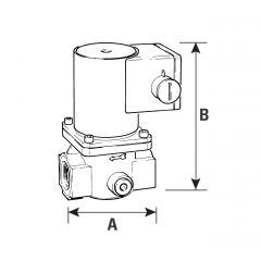Solenoid Gas Safety Shut Off Valve - 1/4""