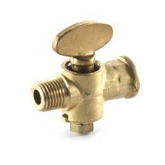 """Rigid Fan Gas Cock - 1/4"""" M x F BSP T"""
