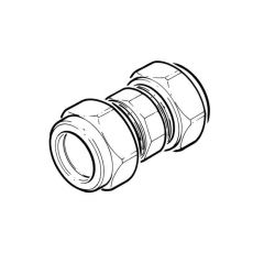 """Stainless Steel Straight Coupling - 1/4"""" Compression"""
