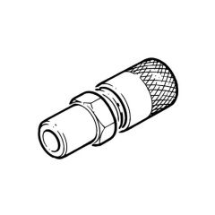 "Straight Coupler - 1/4"" Port, 3/8"" i.d, 1/2"" o.d."