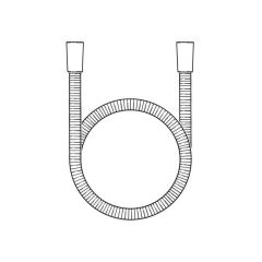 Shower Hose S/Steel - Cone x Cone, 1.75m x 7mm Bore