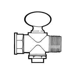 """Rigid Fan Gas Cock - 1/8"""" M x F BSP T"""