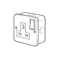Switched Socket Outlet - 13A, 1 Gang