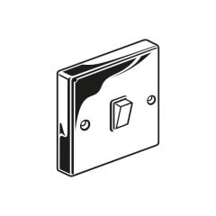 Plate Switch - 10A, 1 Gang, 2 Way, Chrome