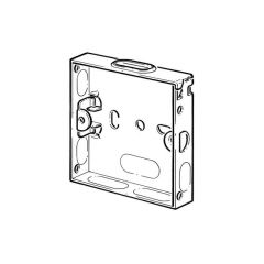 Flush Fitting Pattress Box - 1 Gang, 25mm Deep