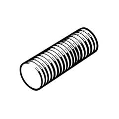 "Threaded Rod - 1m x 1/8"" BSP Zinc Plated"