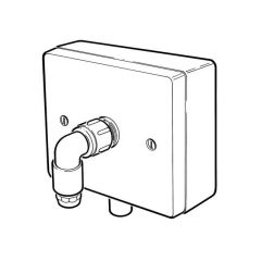 Outlet Boxed Rigid Fix 10/12mm Inlet x 10mm Self Colour