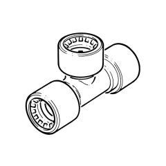 Conex Push-Fit Equal Tee - 10mm