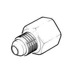 "Male Flare Adaptor - 10mm x 1/4"" BSP TF"